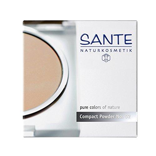 SANTE - Compact Powder Puder- Farbe 02 - Zaubert ein perfektes Finish - BIO, Vegan,