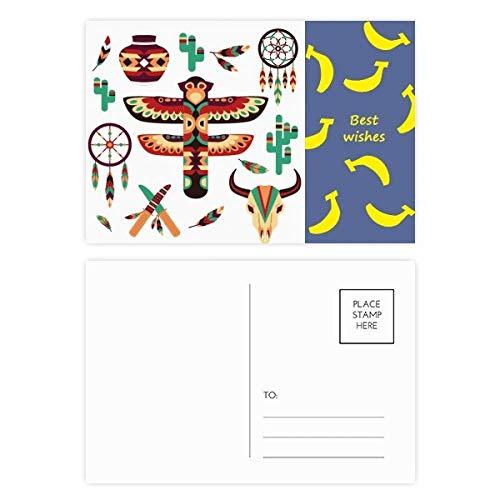Native American Dream Catcher - Juego de tarjetas de felicitación (20 unidades), diseño de banana india