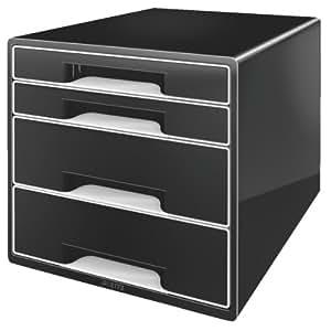 Leitz - Module de classement 4 tiroirs - Noir/Blanc
