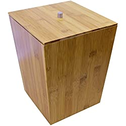 Ridder 22070811 Bamboo - Cubo de basura con tapa (madera de bambú)
