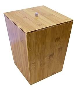 Ridder 22070811 poubelle de salle de bain avec couvercle for Poubelle de salle de bain bambou