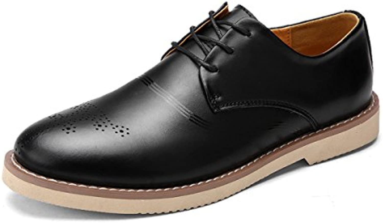 Otoño Zapatos De Hombre Inglaterra Zapatos Tallados Zapatos Sueltos Cabeza Redonda Zapatos De Encaje  -