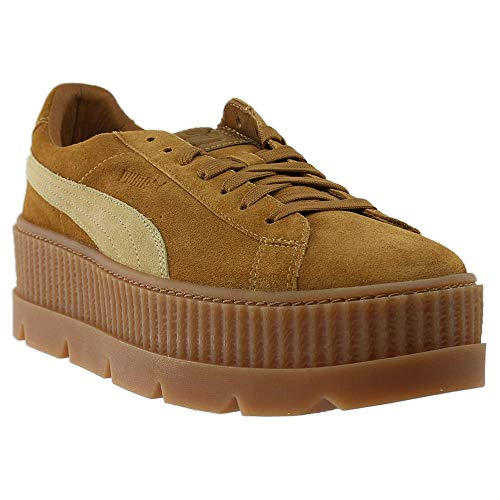PUMA Select Men's x Fenty by Rihanna Cleated Creeper Suede Sneakers, Golden Brown/Lark, 10.5 D(M) US