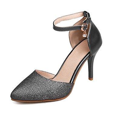 LvYuan Sandali-Ufficio e lavoro Formale Serata e festa-Club Shoes-A stiletto-PU (Poliuretano)-Nero Rosa Bianco Pink