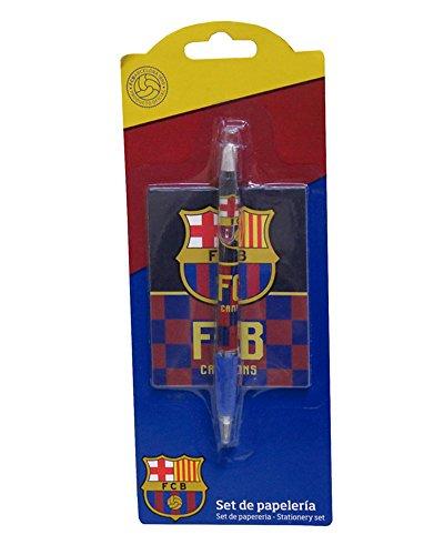 Set bolígrafo y bloc de notas de Fc Barcelona (12/144): Una unidad de Set bolígrafo y bloc de notas de Fc Barcelona