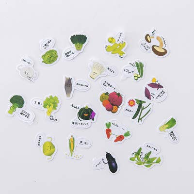 BAWANGLONG Nette Katze Papier Aufkleber Lebensmittel Pflanze Dekoration DIY Tagebuch Scrapbooking Label Aufkleber Schreibwaren Schulbedarf