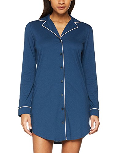 Iris & Lilly Damen Cosy Sleep Nachthemd, Blau (Insignia Blue), Small