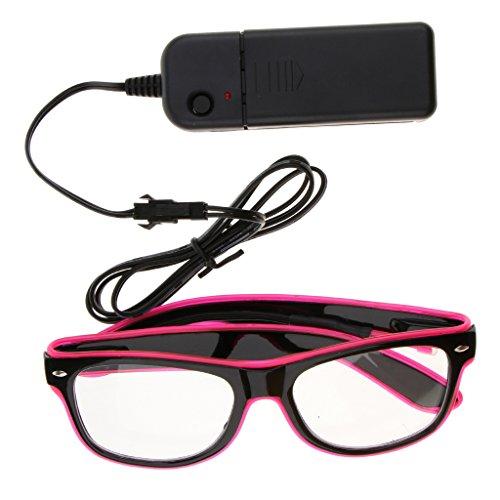 D DOLITY Mode Leuchtende Brille Blinkende Spaßbrille Leuchtbrille für alle Menschen - ()