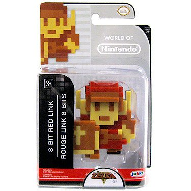 World of Nintendo - Super Mario Brosothers - 6cm Mini-Figur - 8-Bit Red Link Figur [UK Import]