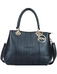 Hidea Black Textured Ladies Hand-held Bag With Sling
