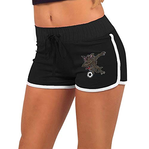 Chupacabra Kostüm - Dabbing EL Chupacabra Soccer Dab Women's Sexy Shorts Fashion Beach Hot Shorts XXL