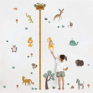LETAMG Wall Sticker Cartoon Forest Animals Height Measure Wall Stickers For Kids Rooms Wall Decals Children Bedroom Mural Art Diy Posters