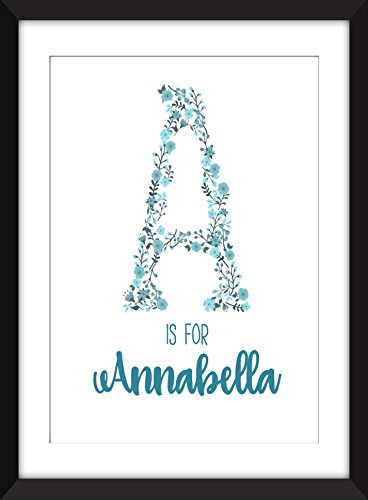 A is For/Children's Initial Unframed Print - Personalised Name Print for Babies / A ist For / Children's Initial Personalisierte Namensdruck für Babys Ungerahmter Druck