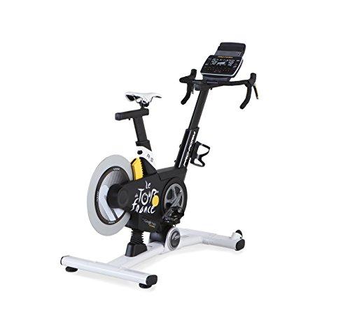 Proform TDF 2.0, Vélo d'entraînement interactif, inclinaison +/- 20%, 24 programmes Tour de France, 26 vitesses digitales, compatible iFit