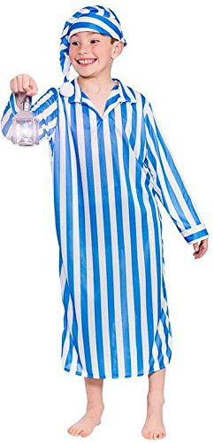 Willie Winkie Boys Children Fancy Dress Costume Gown & Hat-Small 3-4 - Winkie Kostüm