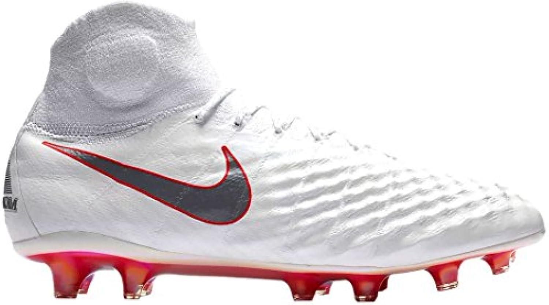 Nike Bota Magista Obra II Elite Dynamic Fit FG Talla 42, Color Blanco