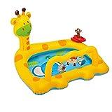 W&NR Kinder aufblasbare Badewanne Planschbecken Spielhaus aufblasbare Giraffe Spielzeug (Color : A)