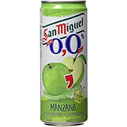San Miguel Cerveza sin Alcohol con Zumo de Manzana - Paquete de 24x 330 ml - Total 7920 ml