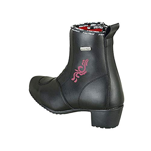 Profirst Global Ladies Motorbike Pink Flower Boot - Stivali da Moto per Donna da Moto d'Acqua 4 / EU 38