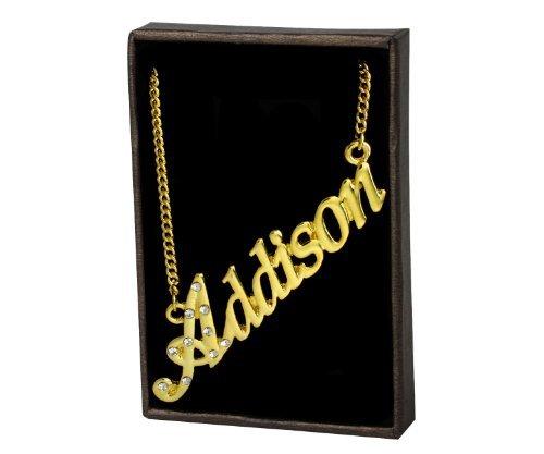 Zacria Namenskette Addison - 18 Karat Gelbgold vergoldet -