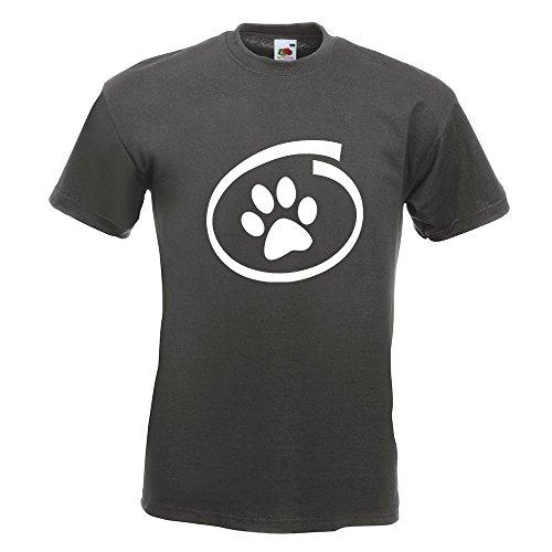 KIWISTAR - Hund / Katze inside T-Shirt in 15 verschiedenen Farben - Herren Funshirt bedruckt Design Sprüche Spruch Motive Oberteil Baumwolle Print Größe S M L XL XXL Graphit