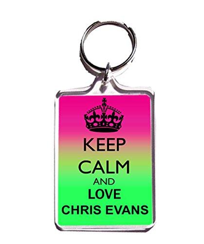 KEEP CALM AND LOVE CHRIS EVANS KEYCHAIN KEYRING