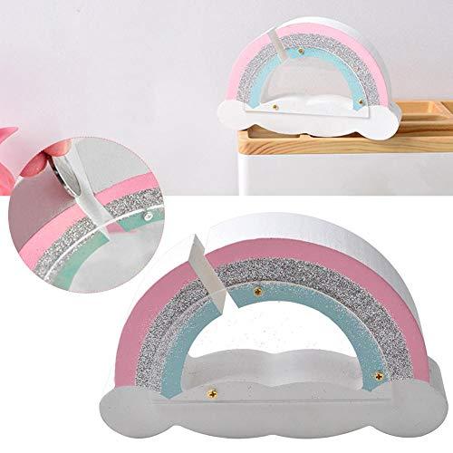 in Regenbogen geformt Münze Spardose Mini Holz Geld Bank für Kinder Mädchen Kinderzimmer Desktop Ornamente Eingerichtet ()
