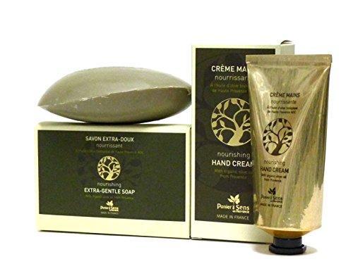 Panier des Sens: Olivenöl Seife 150gr & Olivenöl Handcreme 75ml, mit echtem Olivenöl aus der Provence, 2-teilig