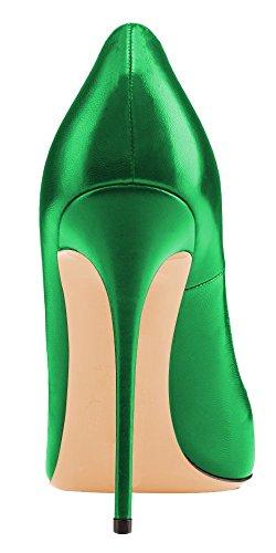 uBeauty - Scarpe da Donna - Scarpe col Tacco - Classiche Scarpe col Tacco - Scarpe Colorate Verde A