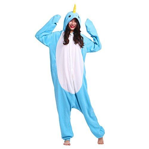 PALMFOX Unisex Cálido Pijamas para Adultos Cosplay Animales de Vestuario Ropa de dormir Halloween y Navidad Onesie