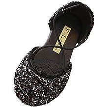 YWLINK Verano NiñOs Lentejuelas Bling Rhinestone CinturóN Cruz Estudiante Baotou Princesa Zapatos Sandalias Fiesta De Bodas