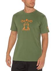 uhlsport T-Shirt - Camiseta, color verde, talla L