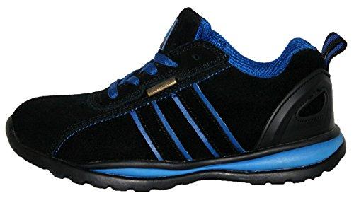 eit Stahlkappe Leichte Schnürschuh Arbeit Schuh Trainer, Blau - Schwarz/Blau - Größe: 39 EU ()