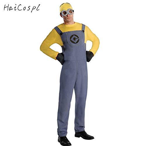 hhalibaba Disfraz de Halloween para HombresMamelucosAdultosAnime Cosplay Fancy Couple Party Wear Mono Divertido con Gafas de Sombrero