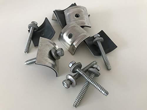 Set aus Schrauben + Kalotten 100 Stück für Trapez-Sinus 76/18 Wellplatten 6,3x50 mm PMMA für...