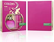 United Colors Of Benetton Colors De Benetton Pink Eau De Toilette 80Ml + Deodorant Spray 150Ml