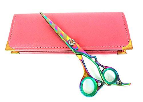 Professionnel de coiffure Ciseaux de coupe de cheveux ciseaux ciseaux Barber Salon Styling 15,2 cm Rasoir en acier japonais Titane bords avec étui