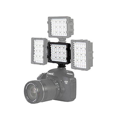 EACHSHOT 48pcs LED Bulbs 3200K-5400K Hot Shoe Flashlight Video Light Lamp for Camcorder Digital Camera Canon Nikon Sony Pentax Panasonic Olympus SLR Cameras  available at amazon for Rs.2949