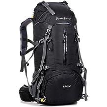 Trekkingrucksack mit Wanderrucksack Fassungsvermögen aus strapazierfähigem Nylon mit Regenschutzhülle. Großer Rucksack, perfekt zum Wandern, Bergsteigen, Reisen und für Sport und Camping reiserucksack