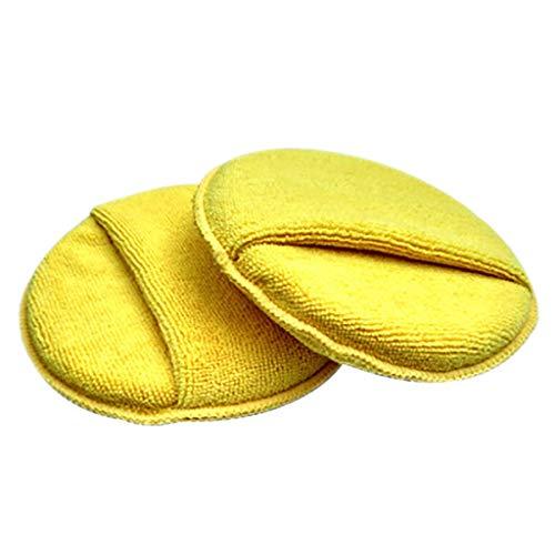 Sulifor Runde Tasche mit Mikrofaser-Reinigungsschwamm, Autowachs Polier-Reinigungspad aus Mikrofaser-Schaumstoff-Schwamm - Geschirrspüler Desinfizieren