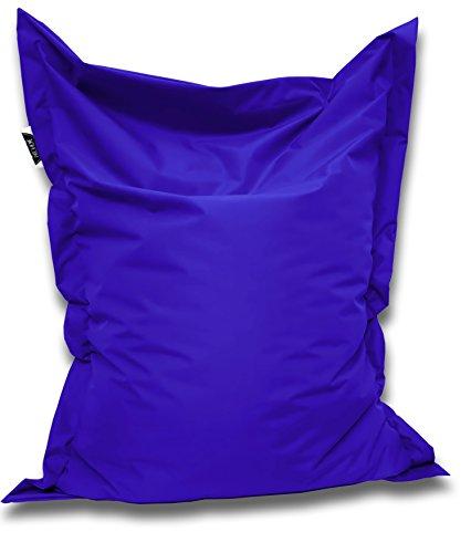 Patchhome Sitzsack und Sitzkissen Eckig - Blau - 180x145cm in 25 Farben und 7 versch. Größen