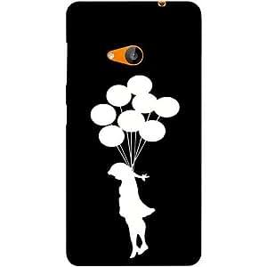 Casotec Balloon Design Hard Back Case Cover for Microsoft Lumia 535