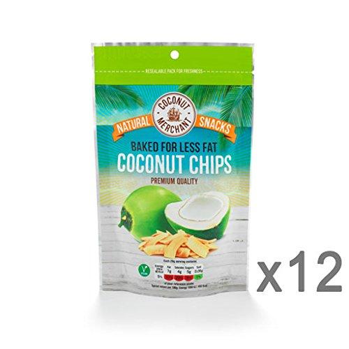 Coconut Merchant Coconut Chip Snacks x12 Test