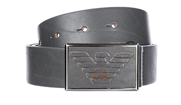 Emporio Armani ceinture homme en cuir gris EU 90 Y4S242YDC0J80155   Amazon.fr  Vêtements et accessoires 3ed4212b228