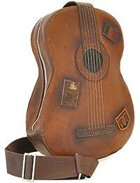 Pratesi en forma de guitarra mochila de cuero italiano