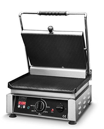 Gourmet-edelstahl-grill (Caso Doppel - Kontaktgrill inklusive digitalem Timer - Profi Gourmet Grill)