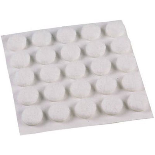 Feltgard 9957 10mm Round Felt Furniture and Floor Protection Pads (Pack of 75) - White Test