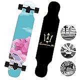 DUBAOBAO Skateboard da 40 Pollici con tavola Dritta per Cruiser, tavola Completa per Principianti, Adolescenti e Bambini Adulti,3