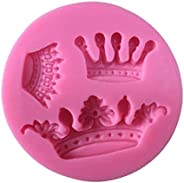 3 Cavity Mini Queen Crown Mold Silicone Chocolate Fondant Candy Mold for Sugarcraft, Cake Decoration, Cupcake Topper, Chocol