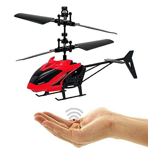 FUN Hubschrauber Rot-Einfach zu Steuern per Handbewegung-Gestiksteuerung!Ganz einfach zu fliegen!!Ein super Geschenk für alle Technik Freaks!Faszinierende Technik!-Helicopter,Mini Drohne